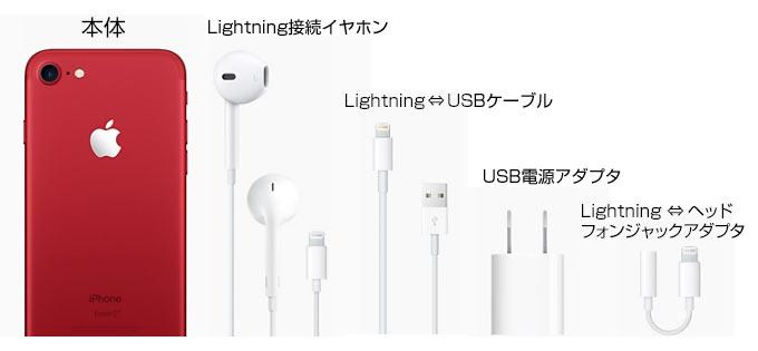 iPhone7の同梱品