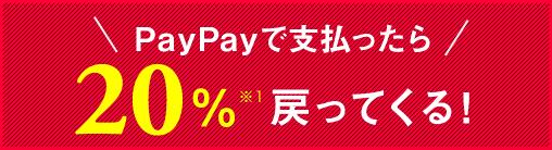 PayPayで支払ったら20%戻ってくる