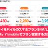 ワイモバイルのスマホプランS/M/LをMy Y!mobileでプラン変更する方法