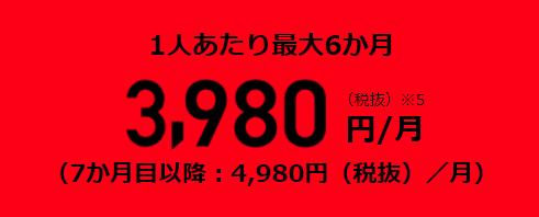 3980円/月