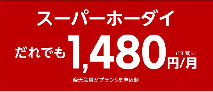 スーパーホーダイ1,480円/月