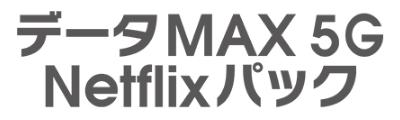 データMAX 5G Netflixパック