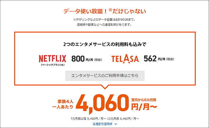 4060円/月~