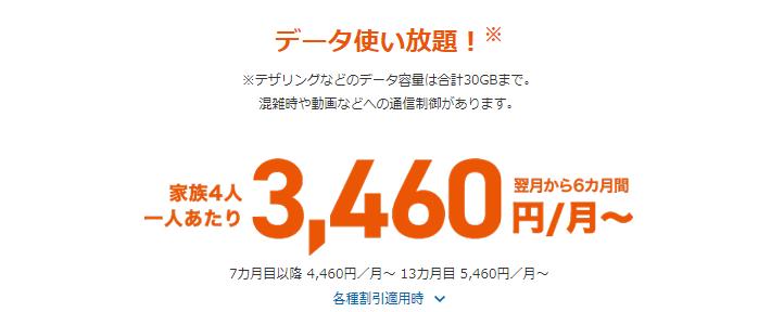 3460円/月~