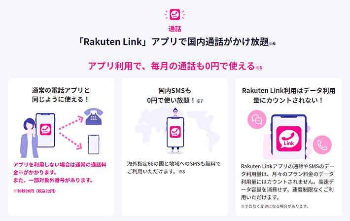 Rakuten Linkアプリで国内通話かけ放題