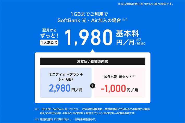 基本料1,980円/月(税抜)