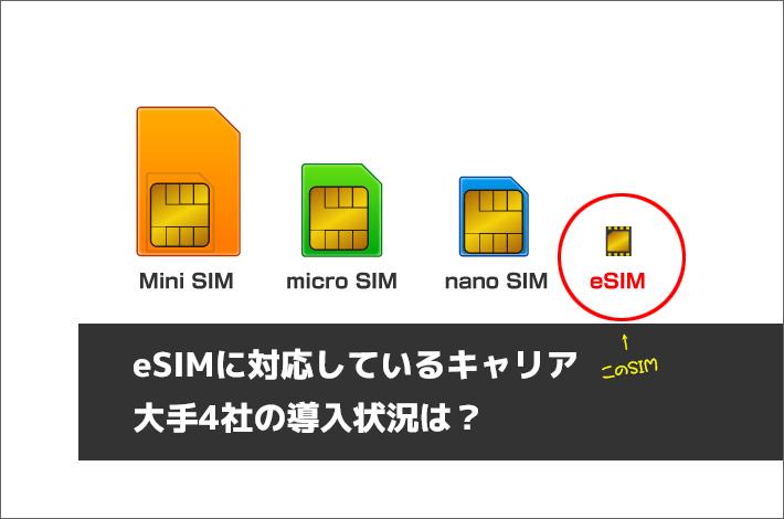 eSIMに対応しているキャリア・大手4社の導入状況は?