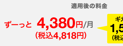 ずーっと4,818円/月