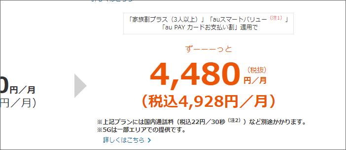 税込4,928円/月