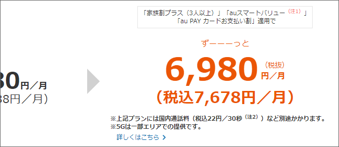 税込7,678円/月