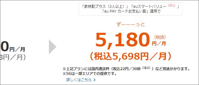税込5,698円/月