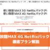 使い放題MAX 4G Netflixパック(P)徹底プラン解説