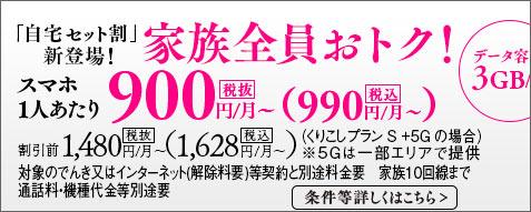 990円/月~